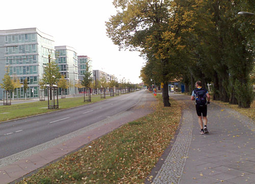 Läufer an Straße