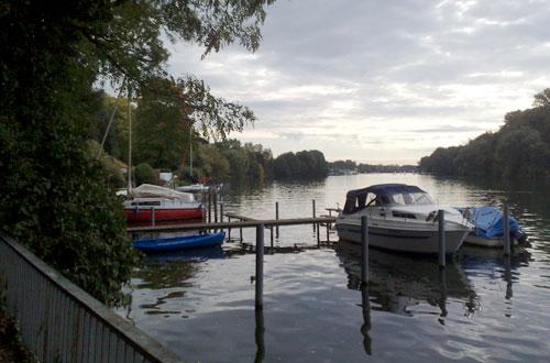 Boote an der Spree bei Köpenick