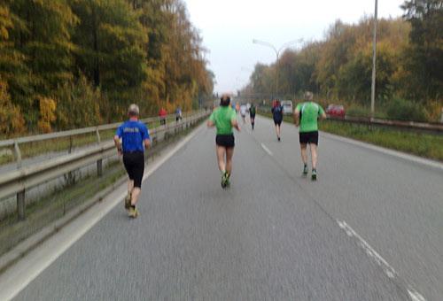 Läufer auf der Travemünder Allee