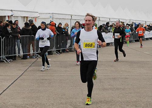 Läufer beim Endspurt