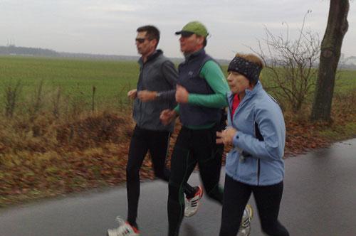 Läufer auf der alten B101