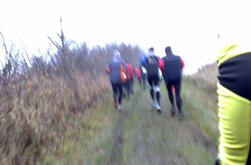 Läufer auf ansteigendem Feldweg