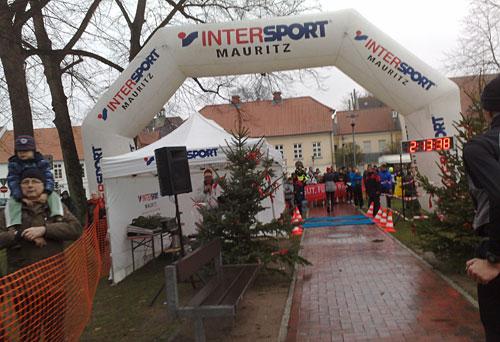 Zielbogen beim Adventslauf in Ratzeburg
