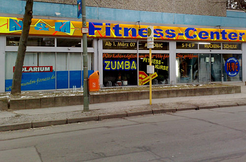 Fitness-Center-Schaufenster