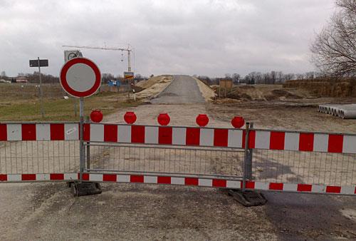Brücken-Baustelle an der L76 bei Mahlow