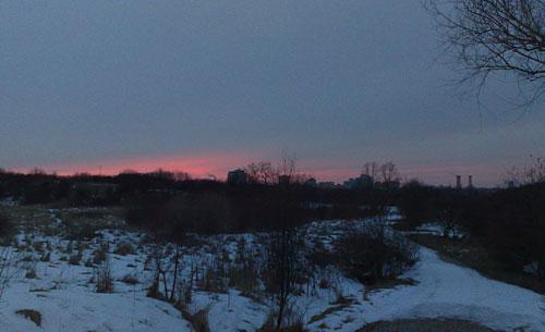 Sonnenuntergang im Freizeitpark Marienfelde