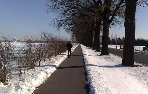 Läufer auf dem Weg nach Rudow