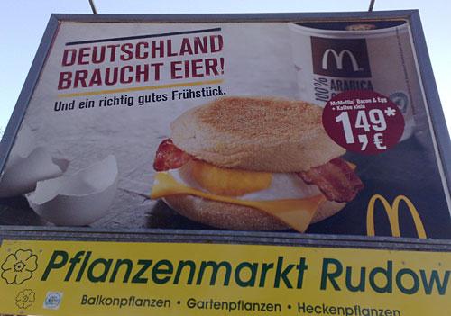 Plakat Deutschland braucht Eier