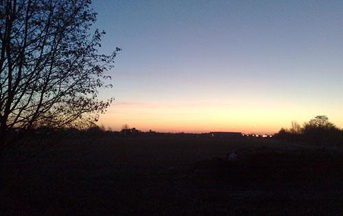 Sonnenaufgang im März