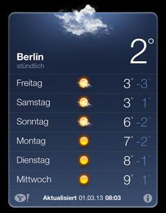 Laufwetter in der ersten Märzwoche in Berlin: sonnig