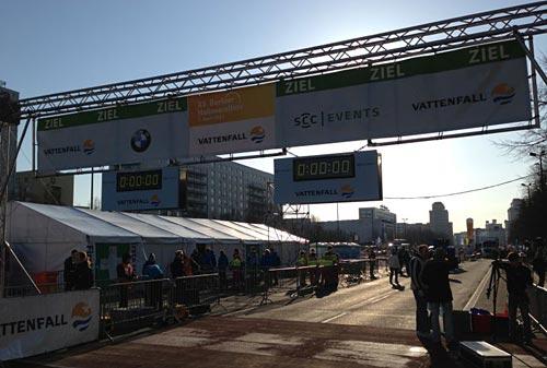 Berliner Halbmarathon 2013: Startuhr