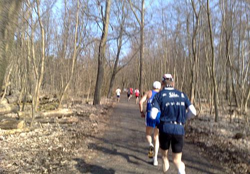 Läufer im Wald beim Köpenicker Altstadtlauf