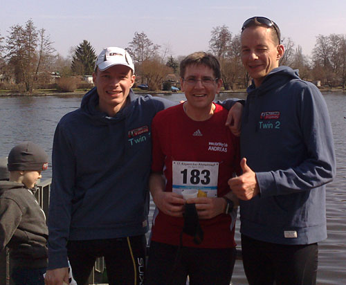 Lauf-Blogger im Ziel beim Köpenicker Altstadtlauf