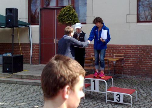 Siegerehrung der Damen beim Köpenicker Altstadtlauf 2013