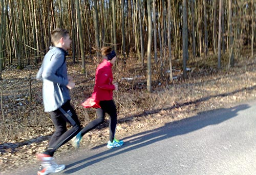 Läufer am Waldrand