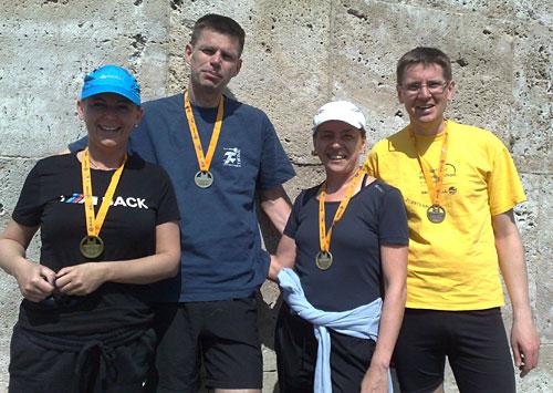 Finisher des Big25 Berlin - 25-Kilometer-Lauf zum Olympiastadion