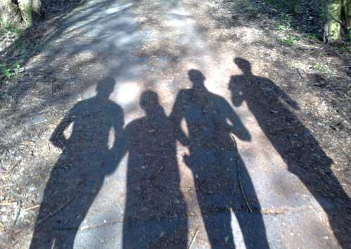 Läufer-Schatten bei einem Lauf auf dem Berliner Mauerweg