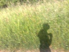 Die Sonne brennt auf den Läufer
