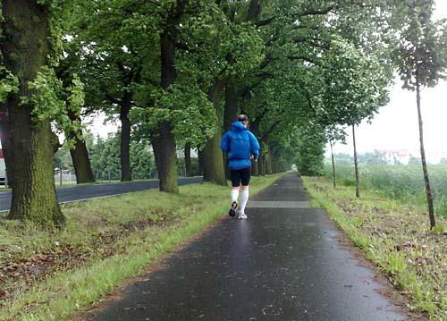 Laufen bei Nieselregen und Gegenwind