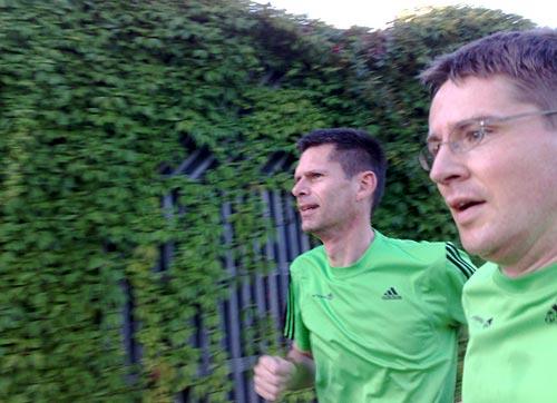 Läufer beim Intervalltraining