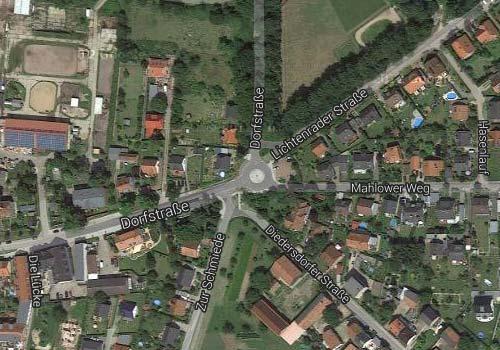 Karte Kreisverkehr Kleinbeeren