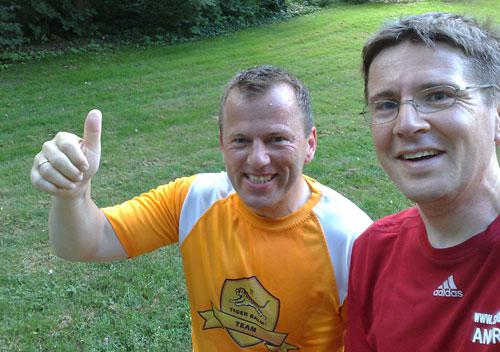 Tiger Balm Team Läufer und startblog-f-Läufer