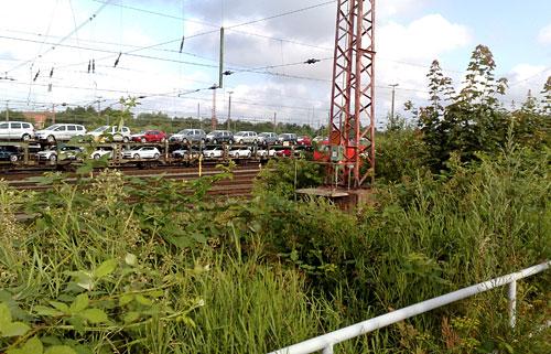 Blick auf Züge in Bremen-Walle