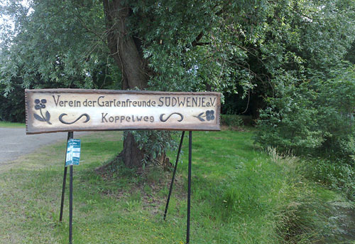 Schild Kleingartenkolonie