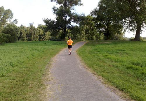 Läufer am Waller Feldmarksee