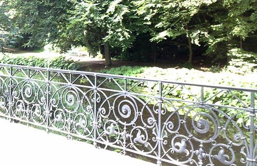 Schönes Geländer im Bremer Bürgerpark