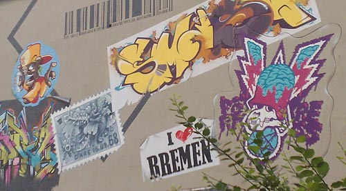 Bremen-Graffiti in Walle