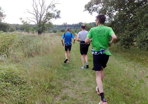 Läufer auf einem Naturpfad