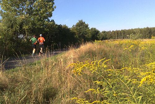 Läufer in schöner Landschaft