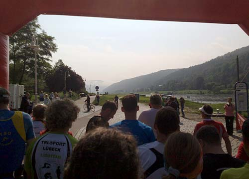 Start zum 24-km-Nationalpark-Trail in Bad Schandau