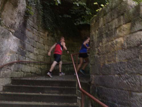 Treppen laufen in Bad Schandau