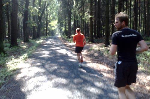 Laufen auf dem Nationalpark-Trail