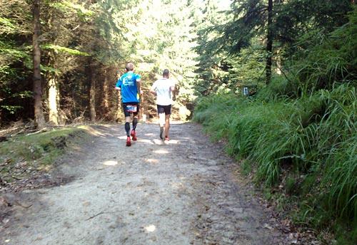 Schnelle Läufer der 30-km-Strecke
