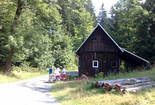 Verpflegungsstelle beim Lauf durch den Nationalpark Sächsische Schweiz
