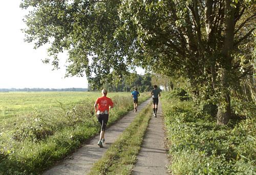 Läufer auf dem Weg nach Genshagen