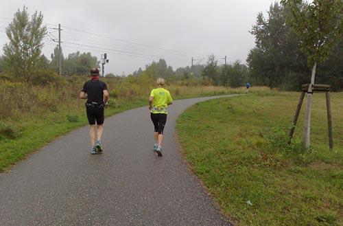 Laufen im Nieselregen