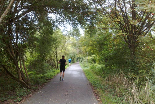 Läufer auf dem Weg nach Teltow