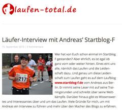 Website laufen-toal.de mit dem startblog-f-Interview
