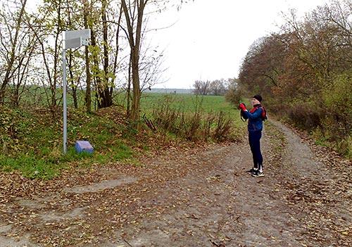 Fotostopp beim Abzweig nach Diedersdorf