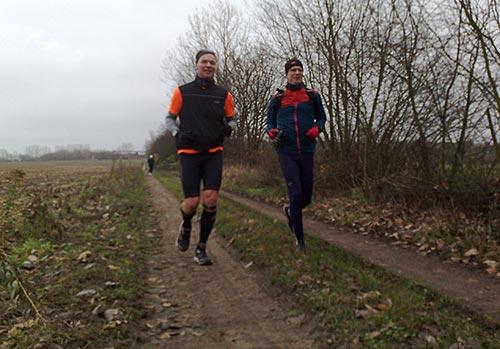 Läufer mit Laufcoach