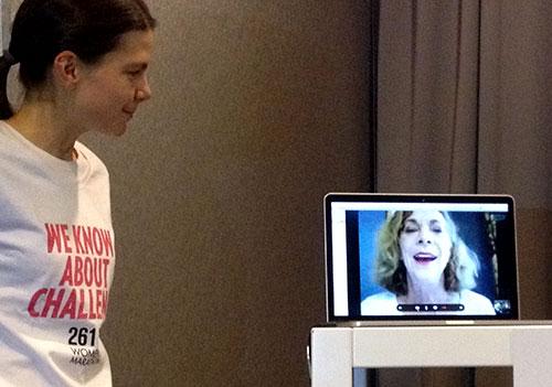 Live-Schaltung zu Kathrine Switzer in Tasmanien