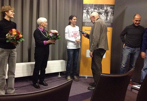 Abschluss des Presse-Events zum 261 Women's Marathon
