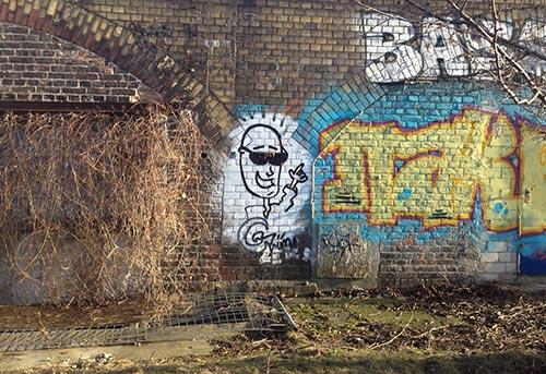 Graffiti im Park am Gleisdreieck