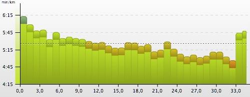 Letzter langer Lauf (Crescendo) meiner Marathonvorbereitung 2013 für Frankfurt
