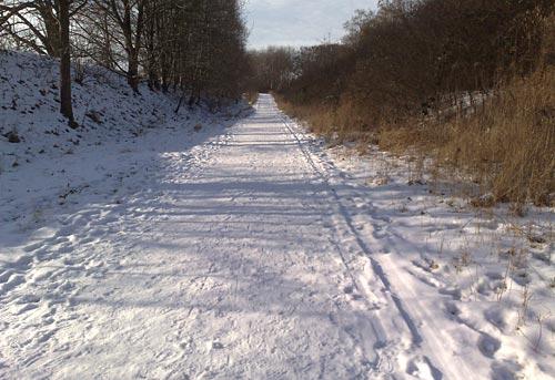 Super-Winter-Sonnen-Laufwetter