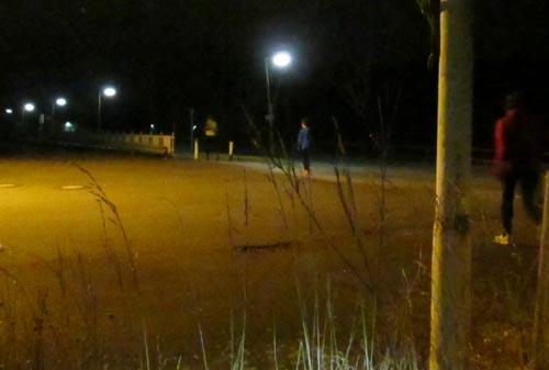 Nachtläufer auf dem Rückweg